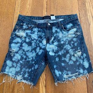 Calvin Klein distressed shorts